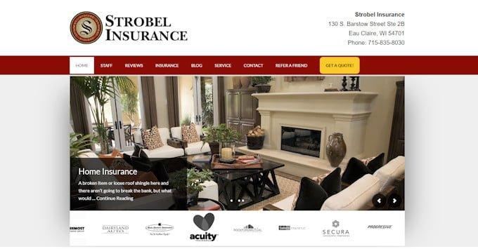 Our New Website Strobel Insurance Eau Claire Wi